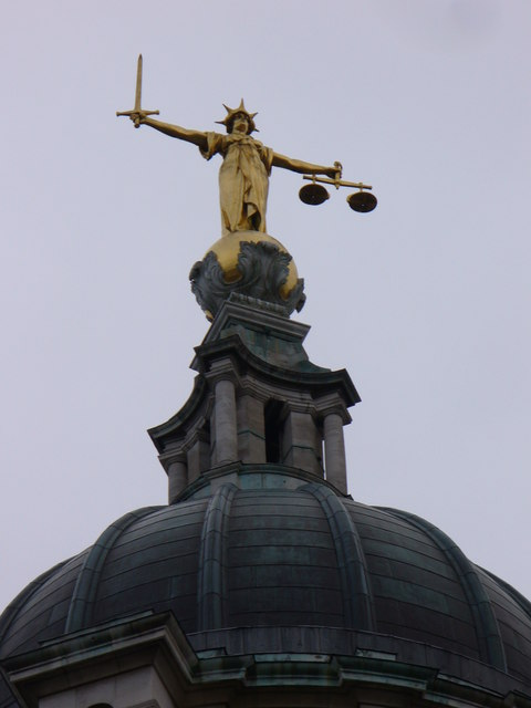 Traditional justice is blind and impartial. (Photo thanks to Colin Smith, found here: http://www.geograph.org.uk/photo/650458 )