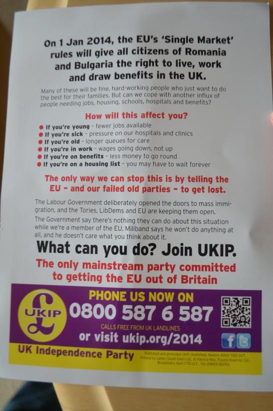 UKIP Leaflet Back Cover