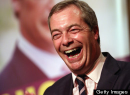 """After his party were called """"clowns"""", Nigel Farage is laughing now. (Photo: Getty Images)"""