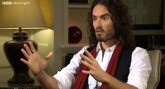 "Russell Brand has called for a ""egalitarian"" revolution. (Photo: Digital Spy)"