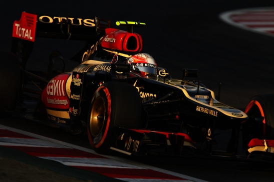 Romain Grosjean led the Japanese GP, before ceding the front spot to the charging Vettel. (Photo: taka_suzuki)