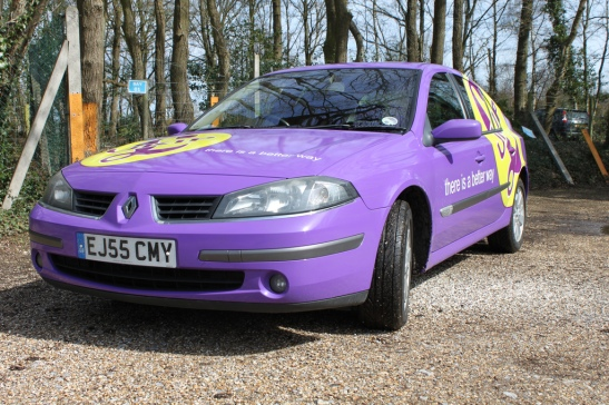 The irony that the UKIP car is a Renault is not lost. (Photo: Astral Media)