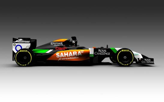 This image of Force India's VJM07 was chosen to not reveal the car's nose. (Photo: Force India)