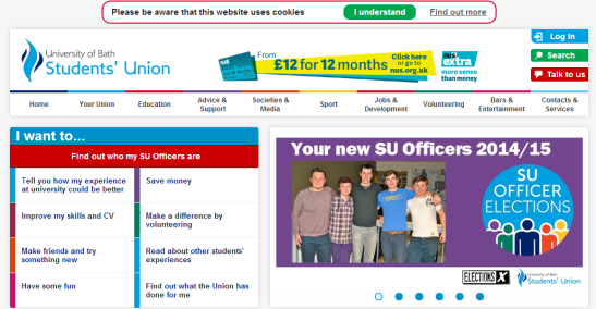 The University of Bath Students' Union have recently had their SU Officer elections. (Photo: bathstudent)