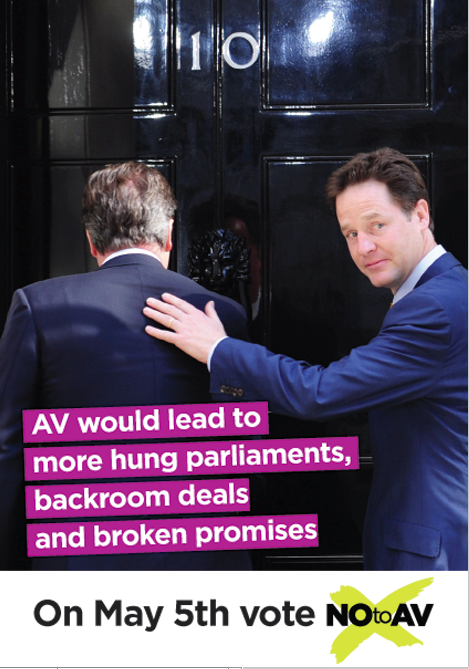 Many of the No2AV leaflets focused on the Deputy Prime Minister. (Source: Conservative Home)
