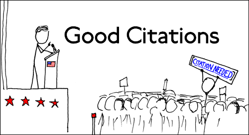 Citations really are needed. (Edited: XKCD)