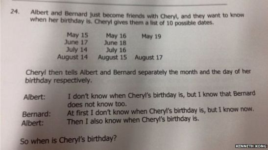 The answer follows logically. (Source: BBC/Kenneth Kong)