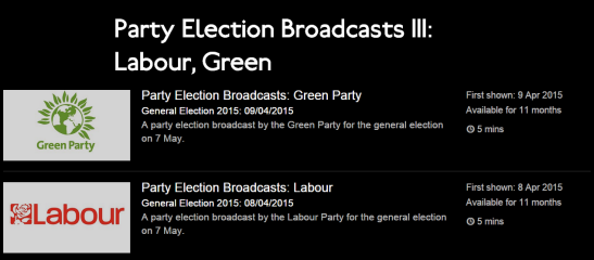 Election broadcasts are shown around the nation. (Source: BBC)