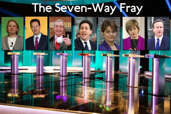 Seven party leaders debated politics on in a live televised discussion on ITV. (Edited: Manchester Evening News)