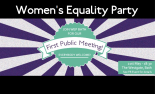 If this party grows in popularity, a discussion in a pub could be momentous. (Edited: Women's Equality Party Bath)