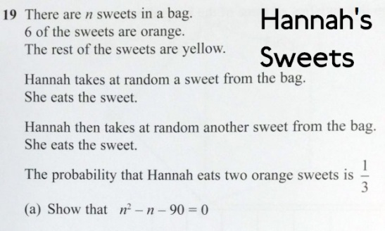 This was a question on this year's Edexcel GCSE Mathematics examination. (Edited: Twitter)