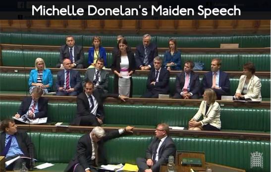 Michelle Donelan gave her maiden speech, as the MP for Chippenham. (Edited: Facebook)